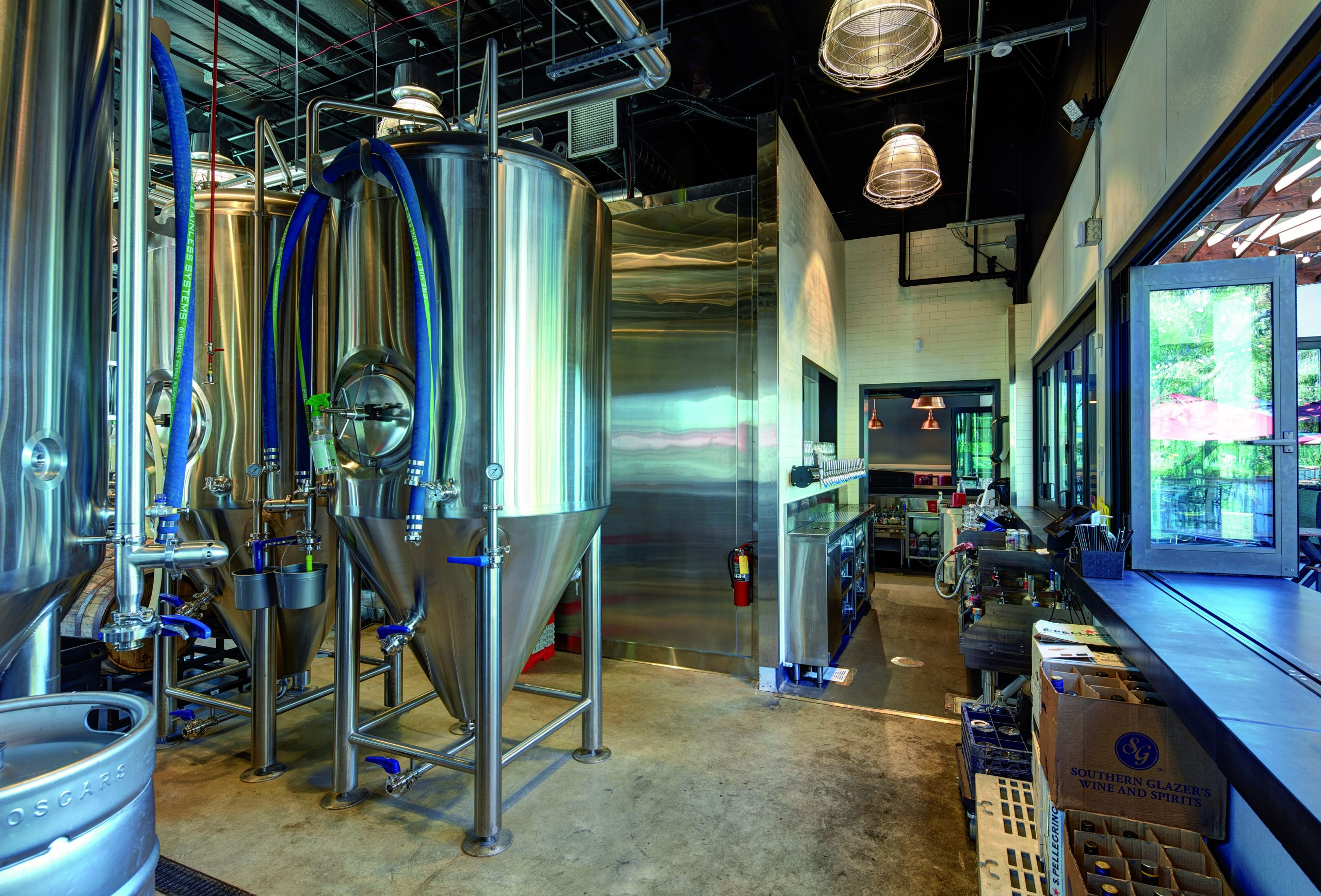 Brewery equipment at  Oscars Brewing Company
