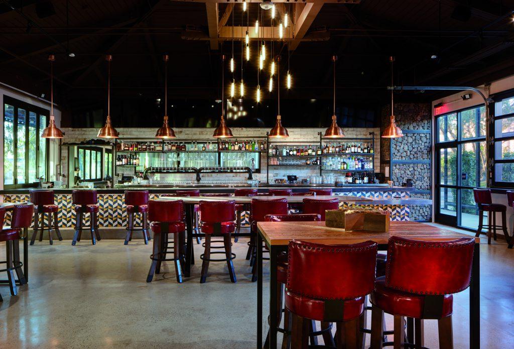 indoor dining room at Flight of Oscars Brewing Company